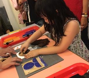 2016/10/16、23(日)當土耳其花紋遇上中國青花-版畫書籤印製體驗